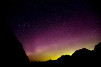 Aurora Borealis With Shooting Star