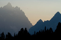 Smokey Grand Teton Sunset