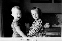 Donna and her cousin Doug, November, 1961